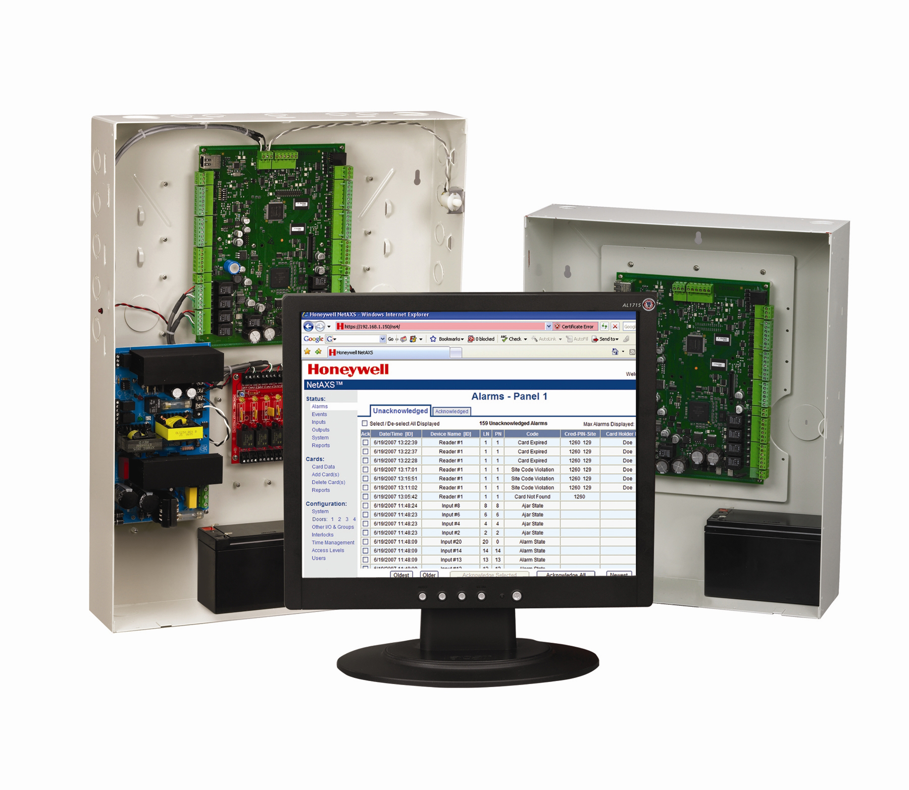 Honeywell monitoring systems